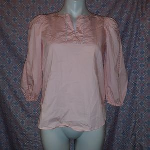 Ann Taylor 3/4 Sleeve Top / Blouse Pink XS